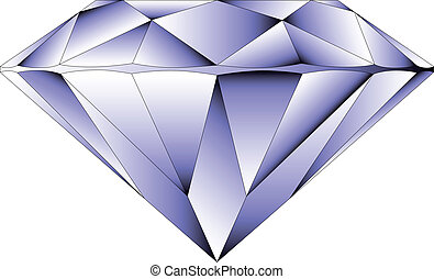 Vector round brilliant cut diamond perspective