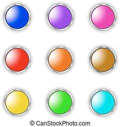 vector round button