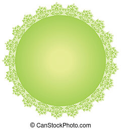 vector round green frame