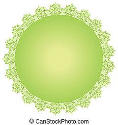 vector round green frame