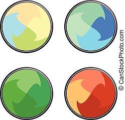 vector round label design set