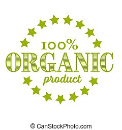 Vector round retro vintage stamp for organic product
