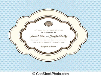 Vector Rounded Oval Frame and Floral Background