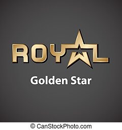 vector royal golden star