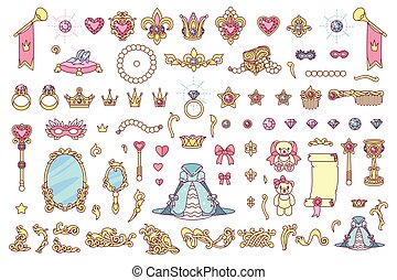 vector royal jewelry collection