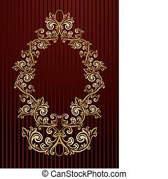 Vector royal wallpaper with floral - Vector black royal...