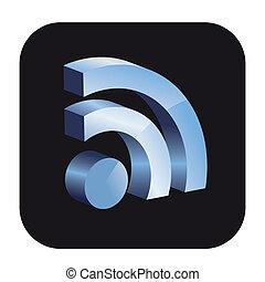 Vector RSS button