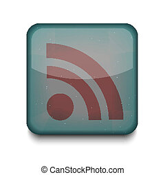 Vector rss icon. Eps10. Easy to edit