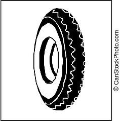vector rubber tyre