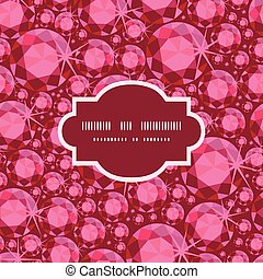Vector ruby frame seamless pattern background
