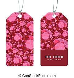 Vector ruby vertical stripe frame pattern tags set