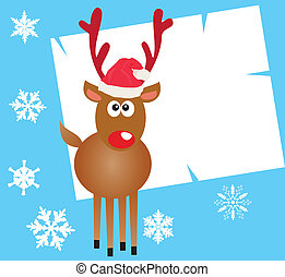 Rudolf - Vector Rudolf card