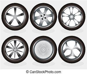 vector, rueda de aleación