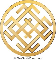 Mysterious mysterious ancient Slavic symbol of good fortune, wealth, happiness.
