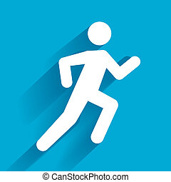 Running Illustration - Vector Running Illustration, white...