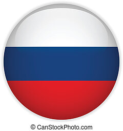 Vector - Russia Flag Glossy Button