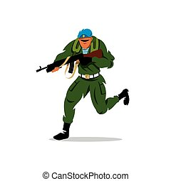 Vector Russian special forces man Cartoon Illustration.