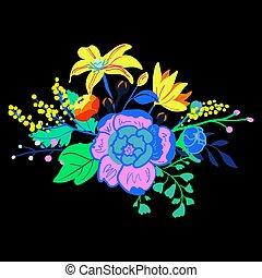 Vector Rustic Flower Bouquet