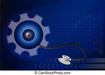 vector., símbolo, buscando, plano de fondo, limpio, tecnología