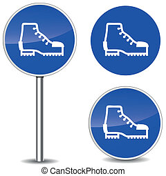 Vector safety shoes sign - Vector illustration of safety...