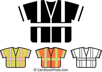 Vector Safety Vest Icon