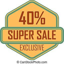 Vector sale badge