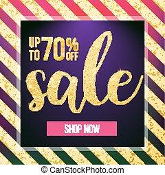 Vector sale banner. Design template. Modern fashion web banner.