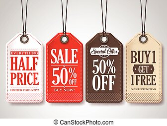 Vector Sale Tags Design Collection