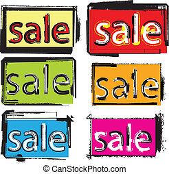 Vector sale text
