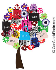 sale tree - vector sale tree