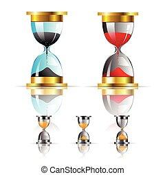 vector sand clock icon