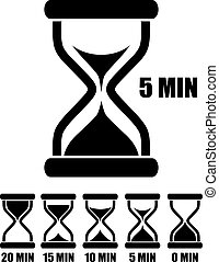 Vector sand glass timers set