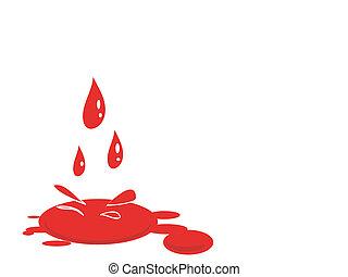 vector, sangre, splat