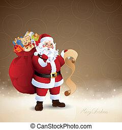Vector Santa Claus