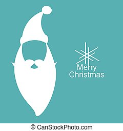 Vector Santa Claus logo, silhouette labels with wishes of merry Christmas, happy New year, greeting card or poster,