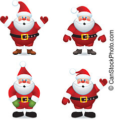 vector santa claus set