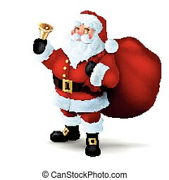 Vector Santa Claus - Vector Illustration of Santa Claus