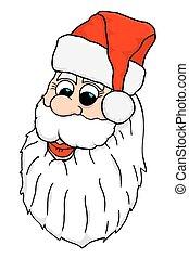Vector Santa Face