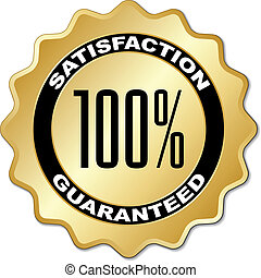 vector satisfaction guaranteed label