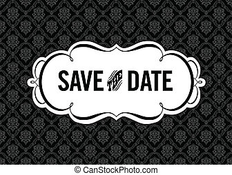 Vector Save the Date Ornate Frame. Easy to edit. Perfect for...