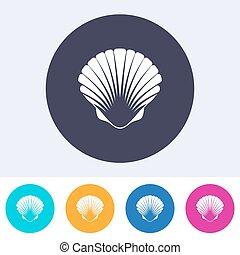 Vector scallop seashell icon