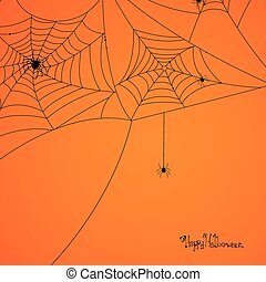 Vector Scary Spider Web