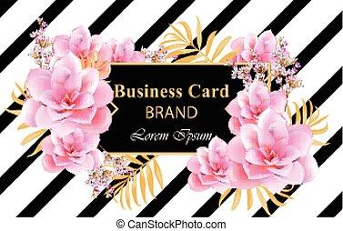 vector., scheda affari, astratto, marca, libro, disegno, delicato, fondo, manifesti, fiori, o, scheda