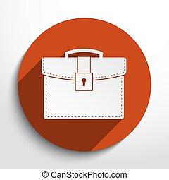 Vector school bag icon