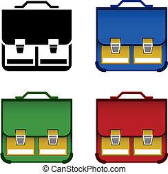 vector school bag icons