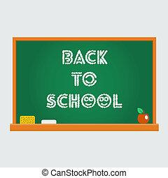 Vector school blackboard, back to school
