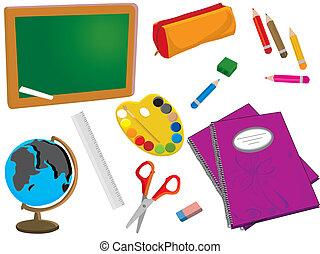 vector school or office supplies