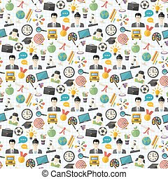 Vector school seamless pattern