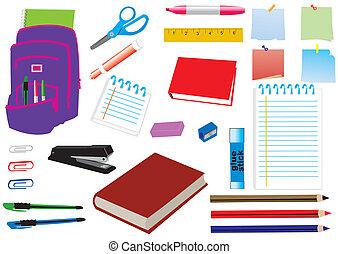 school supplies - vector school supplies