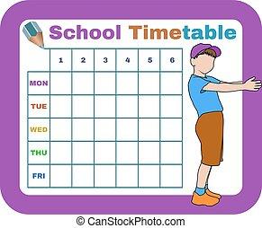 vector school timetable